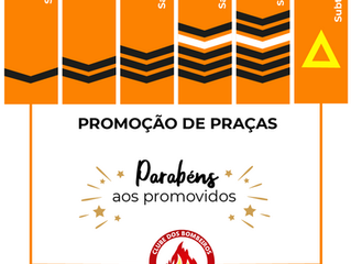 Promoção de Praças - Parabéns aos promovidos!