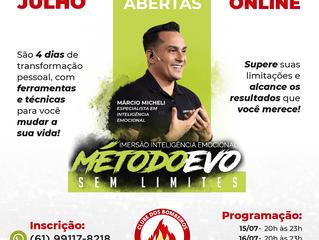 PARCERIA! 🤝🔥 Imersão Inteligência Emocional MÉTODO EVO SEM LIMITES 100% online com MÁRCIO MICHELI!