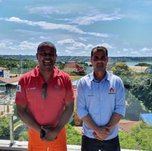Visita do Excelentíssimo Comandante Geral do CBMDF nas instalações do Clube dos Bombeiros
