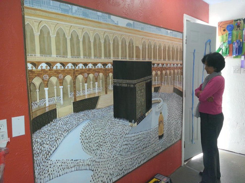 kaaba painting on canvas
