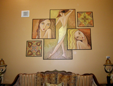 faux paintings of women