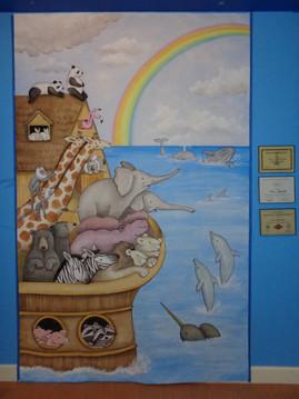 Noahs Ark canvas painting