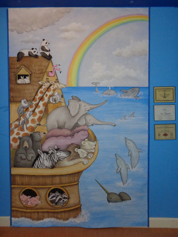 Noahs Ark canvas painting