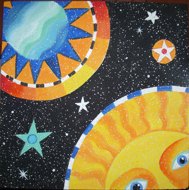 out of space ceiling tile bulletin board