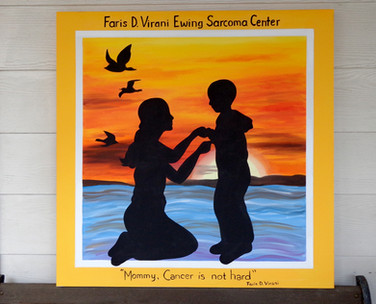 Mother and cancer patient son