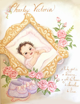Baby Charly Victoria on paper