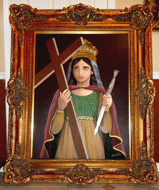 Virgin mary with the cross