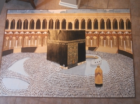 Kaaba in Mecca on canvas