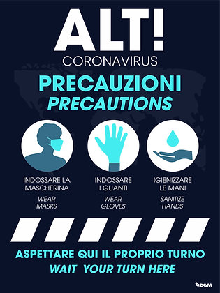 Precauzioni Bilingua - supporto rigido Forex 3mm