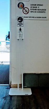 Colonnina Porta Dispenser Gel - Dotato di Flacone Gel Igienizzante