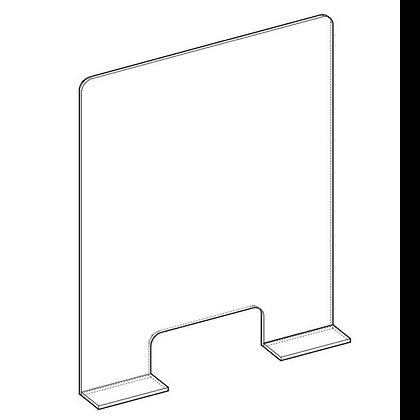 Protezione Plexiglass con Alette con Asola