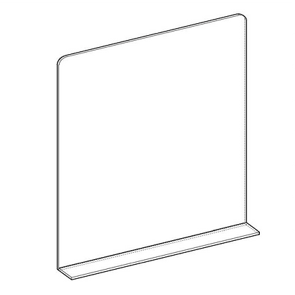 Protezione Plexiglass con Alette senza Asola