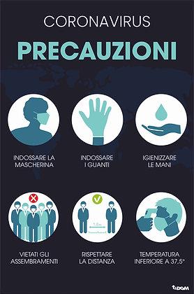 Precauzioni Generali Italiano - supporto rigido Forex 3mm