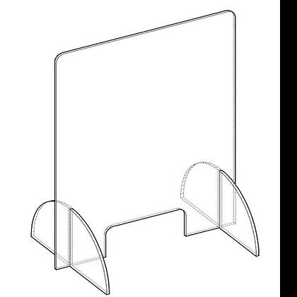 Protezione Plexiglass AUTOPORTANTE con sostegni con Asola