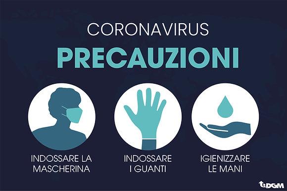 Precauzioni Coronavirus - supporto rigido Forex 3mm