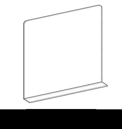 150x90 cm - Protezione Plexiglass con Alette senza Asola