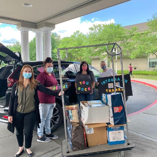 Drop off to Evergreen Commons -- Give Back & Impact's First Drive-Thru Donation Event