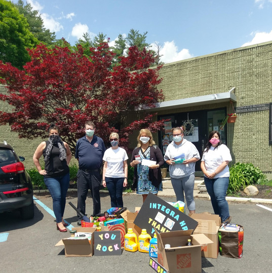 Drop off to Vanderheyden Hall -- Give Back & Impact's First Drive-Thru Donation Event