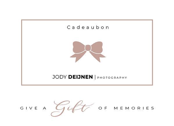 cadeaubon Jody deijnen photography