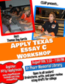 CSLAP Apply Texas Essay Worshop