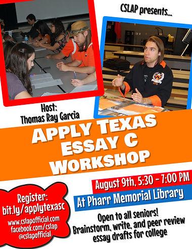 CSLAP Apply Texas Essay Worshop