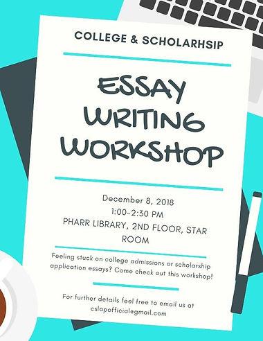 CSLAP Essay Workshop