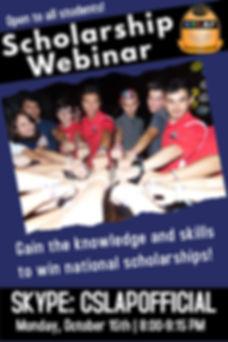 CSLAP Scholarship Webinar