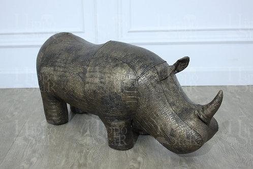Пуф носорог бронзовый