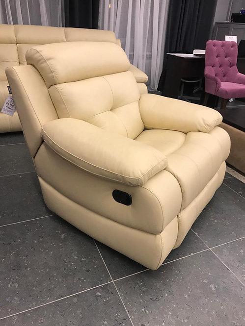 Кожаное кресло-реклайнер Рокфорд