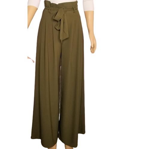 Wide Leg Olive Pants
