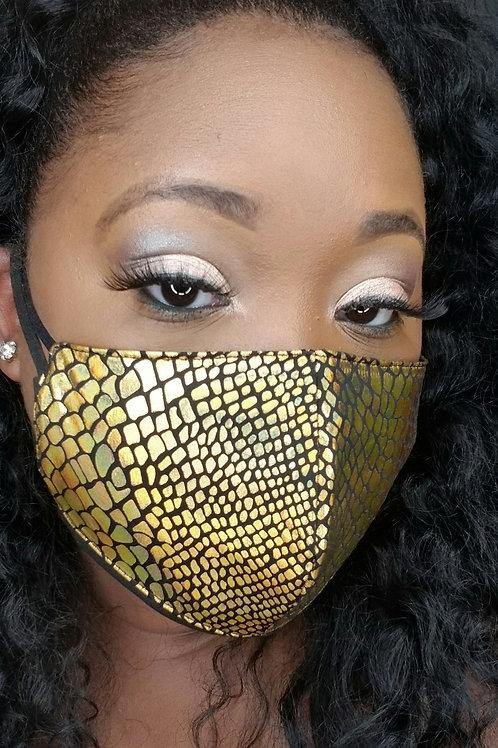 Metallic Snakeskin Mask