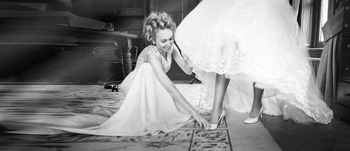 Bride with Bridesmade