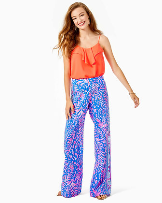 BAL HARBOUR MID RISE PALAZZO PANT