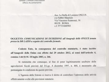 Iscrizione al registro delle ONLUS