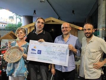 Consegna a Binario 95 dei fondi raccolti con la campagna di solidarietà di Pasqua