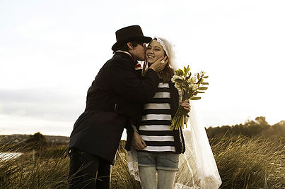 Grungy Bride and Groom