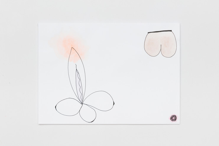 Contrasexual Drawings (2019) - Series: Countersexual Forms - Ink and watercolor on canson - 21x29.7 Single print