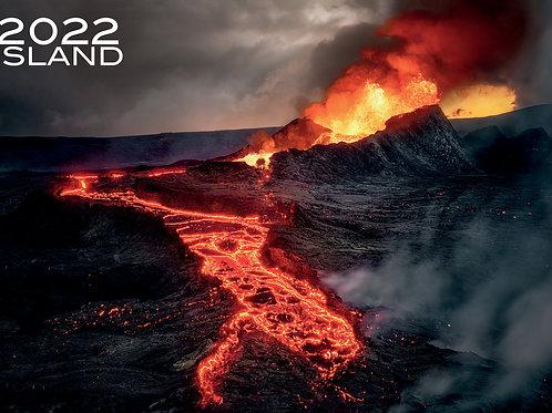 Island Wandkalender 2022, Größe A2