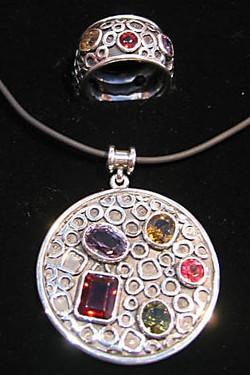 Silver & gemstone set