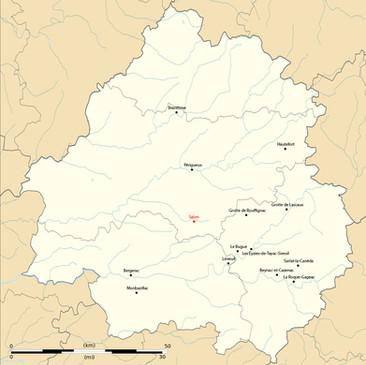 Carte des lieux touristiques