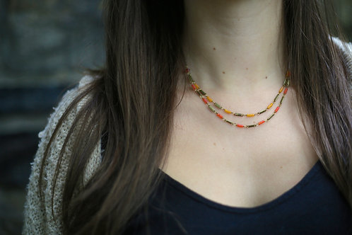 WS High Wire Necklace - Orange and Yellow