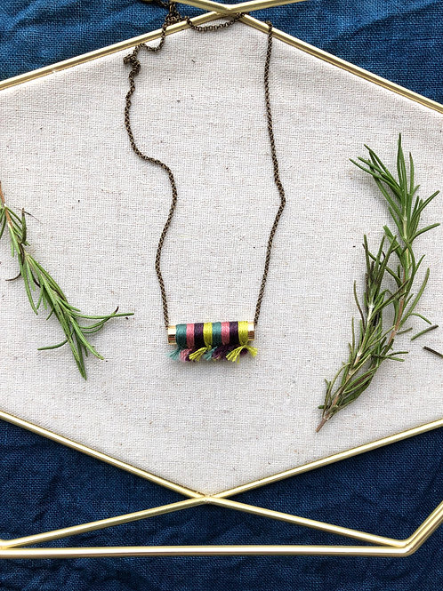 WS Plume Necklace - Lush