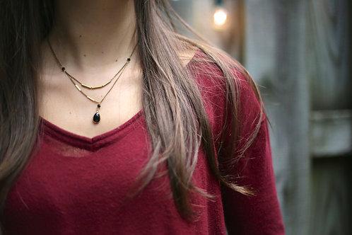WS Gatsby Necklace - Black Onyx