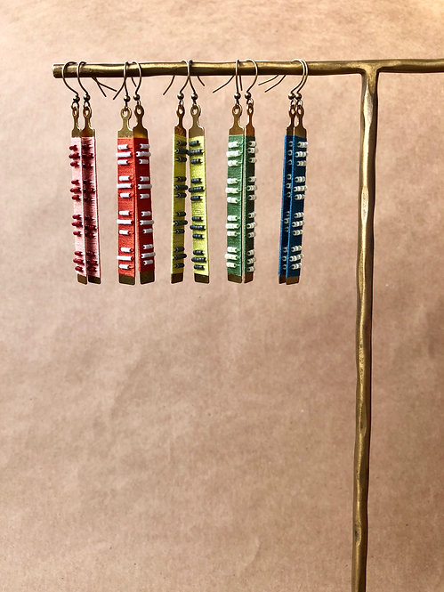 WS Fret Earrings - Retail Pack of 5