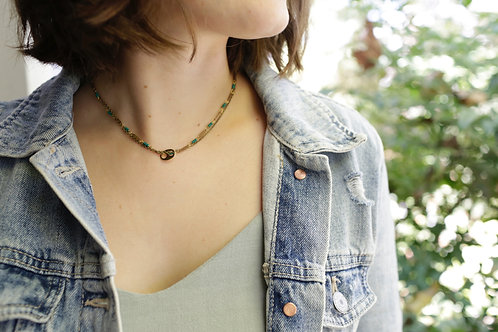 WS Entwine Necklace - Forest Green