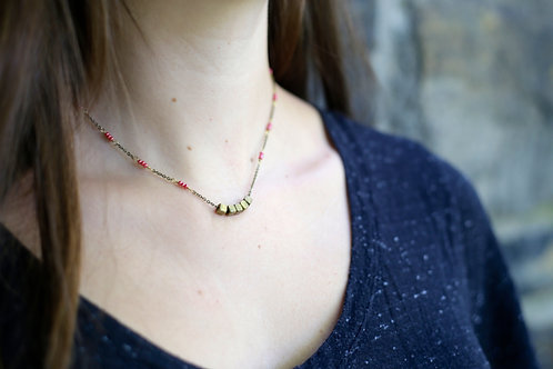 WS Roll the Dice Necklace - Pink