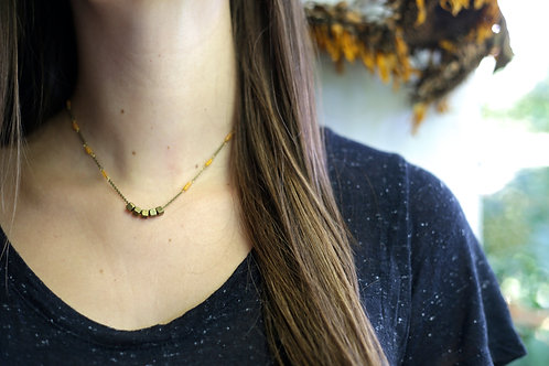 WS Roll the Dice Necklace - Yellow