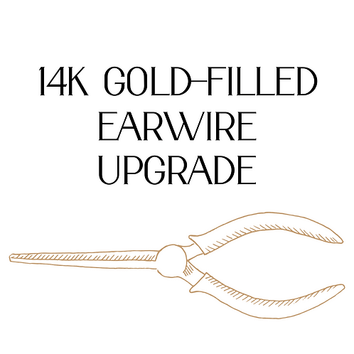 14K Gold-Filled Earwire Upgrade