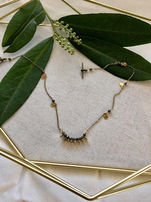 WS Slumber Necklace - Pyrite