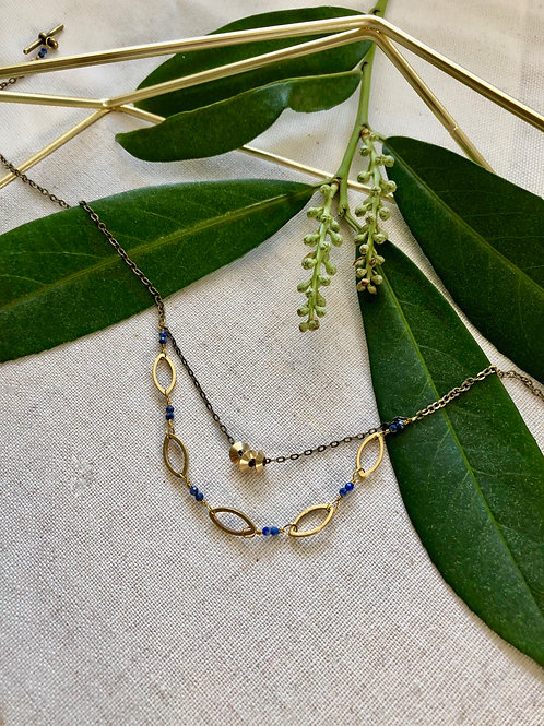 WS Dusk in the Valley Necklace - Lapis